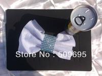 Light Blue Color wedding table decoration 8 rows  rhinestone diamond napkin ring, crystal rhinestone napkin ring LE008LB