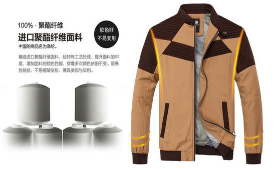 2014 During spring autumn men leisure coat jacket free shipping sell like hot cakes color 3(China (Mainland))
