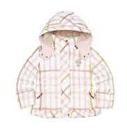 Daks female child plaid design short down coat