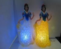 Colorful small night light crystal plastic princess small night light led small night light bed-lighting