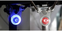 Free Shipping 2013 New Arrival Silicone Bicycle LED Light Rear Torch Lamp Water Resistant Flashing Bike Light with Hook bb090