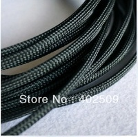 brand new Black 32feet/lot=10M 6mm high voltage insulating pet braid sleeving--top sale best quality Sleeve