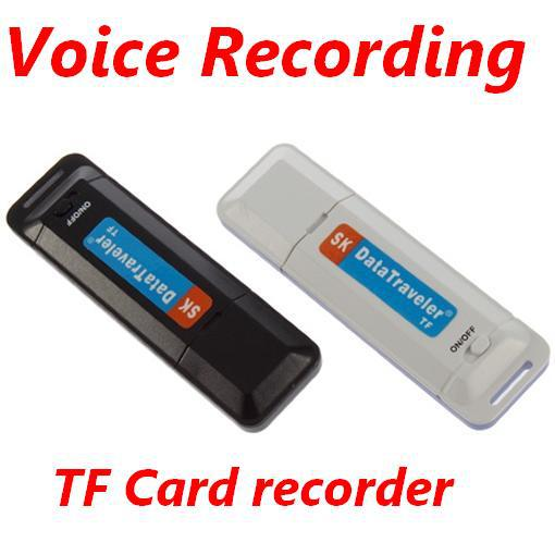 Hot Portable U-Disk Digital Audio Phone Recorder USB Voice Sound Recorder Dictaphone with Flash Drive TF Card for Meetings(China (Mainland))