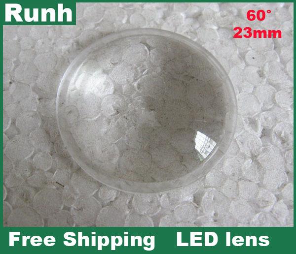 High power LED lens Outer diameter 23MM Led optical lenses 1w 3w 10w 20w garden landscape lights convex lens(China (Mainland))