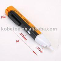 2pcs Non contact Volt Alert AC Electric Voltage Detector Alternate Sensor Tester Pen 90 to 1000V Testing with LED Buzzer Alarm