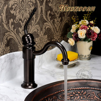 2014 promotion freeshipping brown clear yellow yes black color american antique bronze faucet vintage copper hot and cold basin