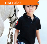 2014 Summer 2-14 years Polo Kids Boy's Children Clothes shirts Boy 100% Cotton Short sleeve clothing