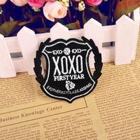 20 Pcs/lot Korea kpop EXO regular series XOXO armband badge cloth badge affixed cloth
