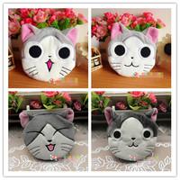 Free shipping Special fashion cute anime 10cm cheese cat plush cartoon purse card holder coin case cartoon bag 10pc a lot