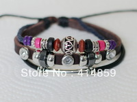 418 Brown leather bracelet Classical leather jewelry Friendship bracelet Charm bracelet Holiday gifts For men and boy