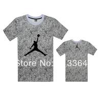 2014  orative pattern  men's mens leopard print hiphop clothing sports summer short-sleeve T-shirt hiphop