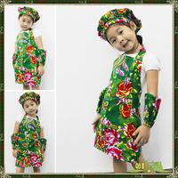 Child apron protective clothing gowns, painting clothes parent-child aprons 4 piece per set