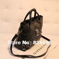 2014 new handbag tide European and American style rivet punk skull bag handbag shoulder bag Messenger bag woman