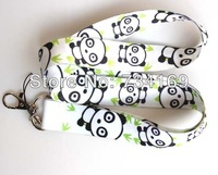 Sell New Panda 20pcs cell Phone Strap NECK Hook Lanyard Charm Key Chain Free shipping