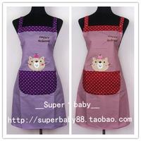 Fashion stripe sleeveless waterproof apron kitten work wear