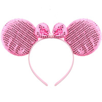 Masquerade MINNIE Hair Pin Pink MICKEY MOUSE Hair BandsTrophonema Light Candy Powder Minnie Mouse Party Supplies
