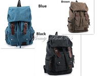 Unisex Travel Bag Canvas Outdoor Backpack Double Shoulder Bag (3 Colors) Factory Wholesale BB-0039