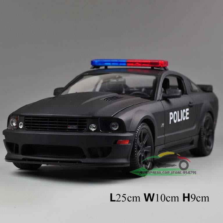 Mustangs Cars Online 1:18 Ford Mustang Police Car