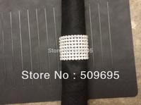 luxury wedding table decoration 8 rows A grade crystal diamond rhinestone silver napkin ring LE008RR