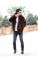 2014 autumn and winter new arrival lovers design fox fur coat overcoat wadded jacket