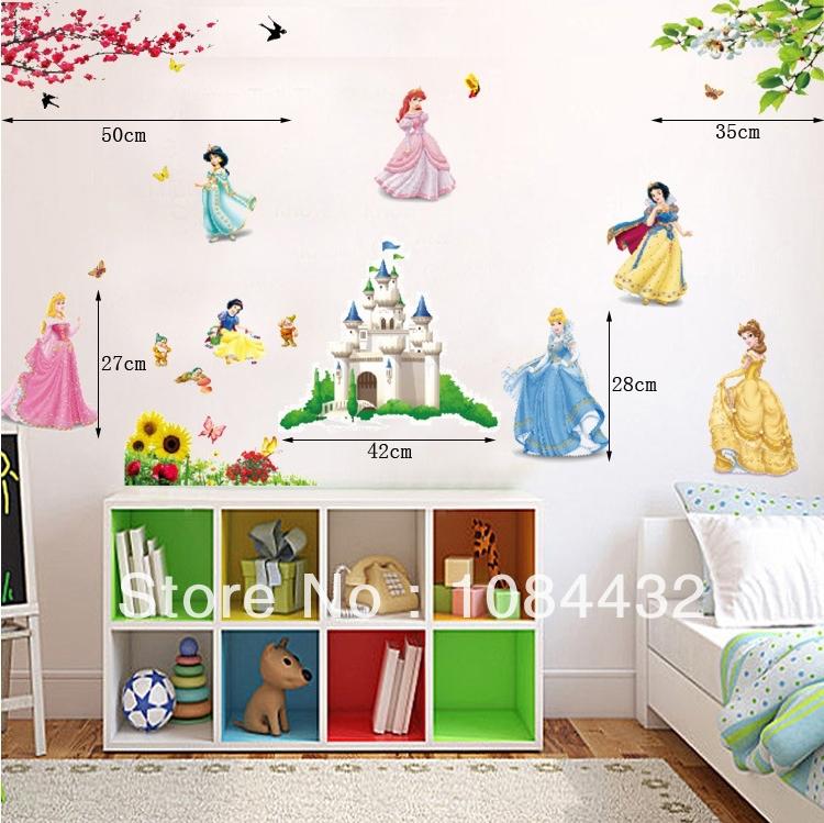 Princess Kids Room : ... -Beautiful-princess-Art-Wall-Sticker-for-Kids-Room-Decoration.jpg