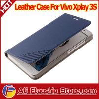 in stock! Vivo Xplay 3S leather case! original filp leather case cover for vivo xplay 3s smartphone + gift, HK Post Freeshipping
