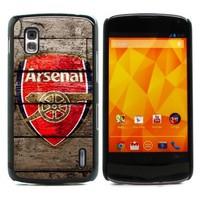 For Nexus 4 Case, Arsenal Gunner Hard Plastic With Alumium Back Case Skin Cover for LG Google Nexus 4 E960