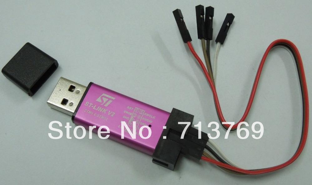 10PCS-NEW-Mini-ST-Link-V2-stlink-Emulato