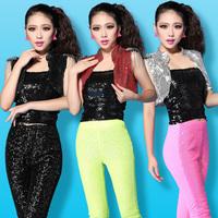 Fashion paillette female singer rivet paillette vest waistcoat jazz dance clothes female ds costume