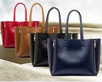 2014 new  women's fashion handbag genuine leather cowhide handbag shoulder bag messenger bag leather bag free shipping p49