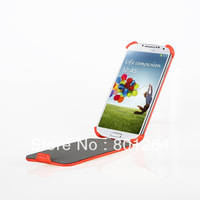 Top open hot press pouch leather skin for Samsung Galaxy S4 i9500 free shipping 500pcs/lot