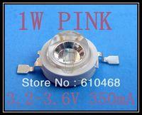 1W Pink Free shipping 1W Epileds 45mil Pink High power LED 50pcs/lot