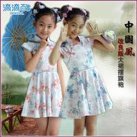2013 children's clothing child female child tang suit cheongsam one-piece dress chinese style cheongsam