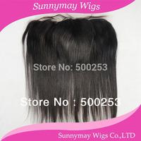 Hot selling Virgin Brazilian straight hair silk base lace frontal closure 13x4