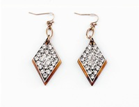HOT SALE!!! Fashion full rhinestones rhombus hook earrings