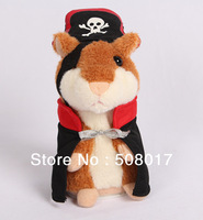 2014 Latest Woody O'time Talking Pirate Hamster  Plush Speaking Humster Sound Record Hamster Plush Toy repeat any words