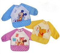 2pc/lot Baby bib,apparel with mouse or bear pattern, baby girls and boys ,Waterproof feeding smock / vesture free shipping