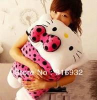 J2 Novelty items giant 50*30cm hello kitty dots polka dress pillow hellokitty plush toy