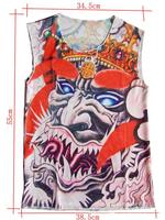 Punk Nylon Stretchy Temporary Punk Fake Tattoo Vest Free Shipping Retail 1 pair/lot