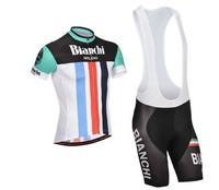 2014 designs sports Men Bianchi road racing Cycling Wear Bicycle Bike Jersey Cycling Cycle Clothing Short top jersey BIB Shorts