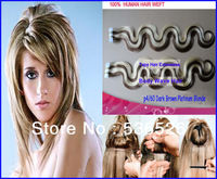 28 inch brazilian body wave hair Tape Hair/PU Skin Weft P4/#613 Dark Brown of Bleach Blonde Hair Extension 100g 40 Pieces