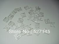 Free Shipping 100sets Clear Plastic Bikini Bra Clip Swimwear Clickers 20mm