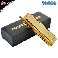 2014 Top Fasion New Gaita Harp Kazoo Tongbao Tombo 12 Chromatic Harmonica Luxury Gold Plated 1248g Version of Exquisite Quality