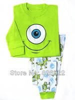 free shipping 2013 new 100% cotton Baby cartoon Kid's Sleepwear pajamas clothing , children's pyjamas baby wear 2 pcs set