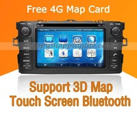 Toyota Auris Car DVD Player GPS Navigation with Touch Screen Bluetooth Ipod Steering wheel controls