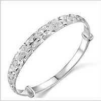 Mantianxing bracelet sliding car flower hand ring packtong silver plated platinum accessories jewelry silver