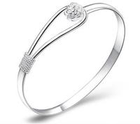 S925 pure silver platinum bracelet anti-allergic