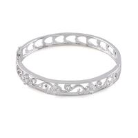 Fashion accessories cutout car flower bracelet 18k platinum bracelet inlaying zircon ol gentlewomen