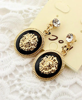 Free shipping* Fashion vintage lion head portrait earrings stud earring