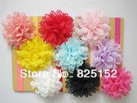 Free Shipping 9pcs Bulk Lace Flower children Kids Baby Girls Children Newborns Party Headband Hair Wear Bow Headwear Accessories